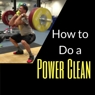 Power Clean - Power Clean technique - how to do a Power Clean