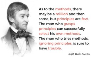 A quote about methods vs principles, that sums up the discussion of Strength Training methods vs Power Training methods