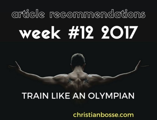 Article recommendations week #12 2017