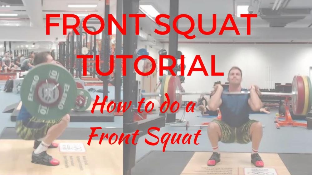 Front Squat tutorial - How to do a Front Squat - How to do a Front Squat correctly - How to performa Front Squat