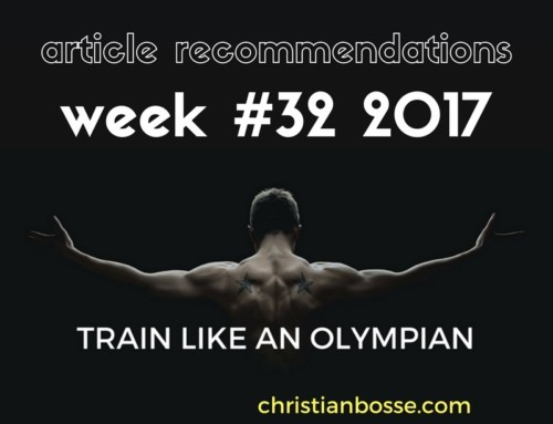 Article recommendations week #32 2017