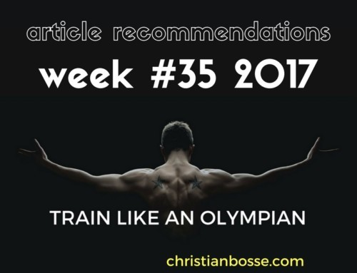 Article recommendations week #35 2017
