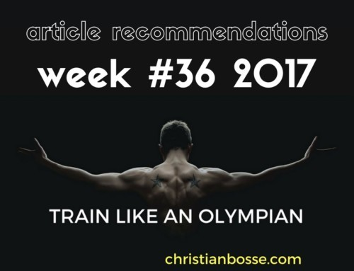 Article recommendations week #36 2017