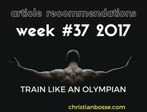 Article recommendations week #37 2017