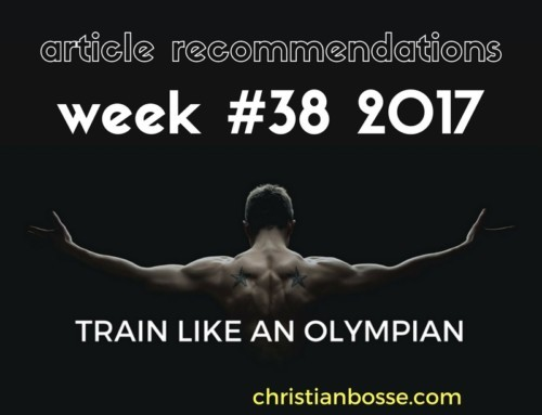 Article recommendations week #38 2017