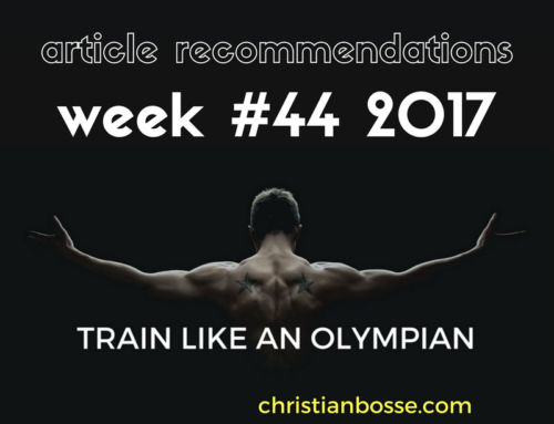 Article recommendations week #44 2017