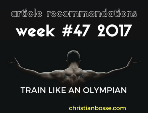 Article recommendations week #47 2017