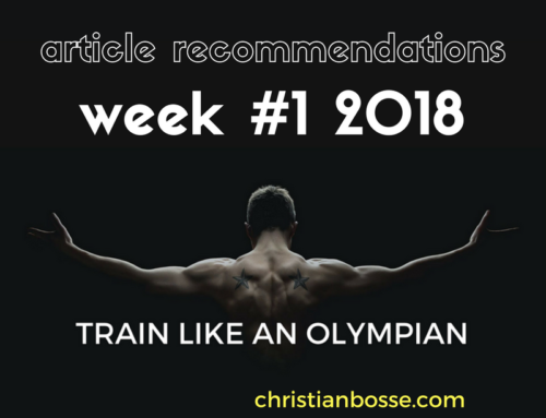 Article recommendations week #1 2018