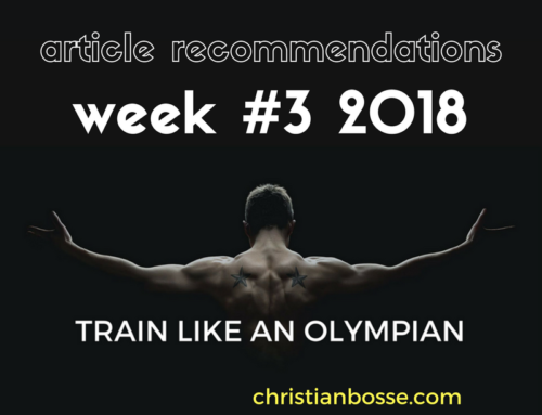 Article recommendations week #3 2018