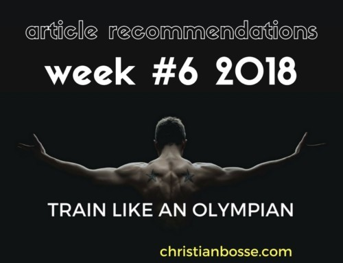 Article recommendations week #6 2018