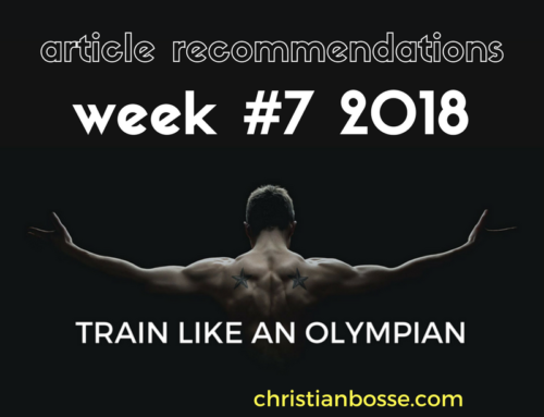 Article recommendations week #7 2018