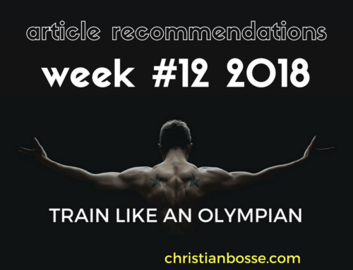 Article recommendations week #12 2018
