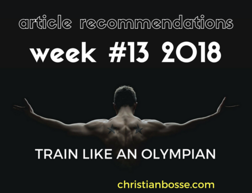 Article recommendations week #13 2018