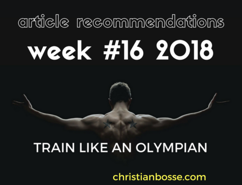 Article recommendations week #16 2018