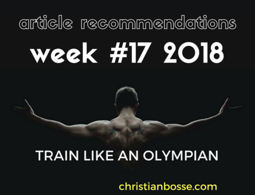 Article recommendations week #17 2018