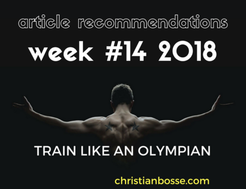 Article recommendations week #14 2018