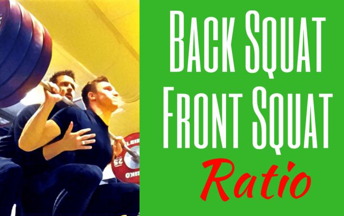 back squat front squat ration front squat back squat ratio
