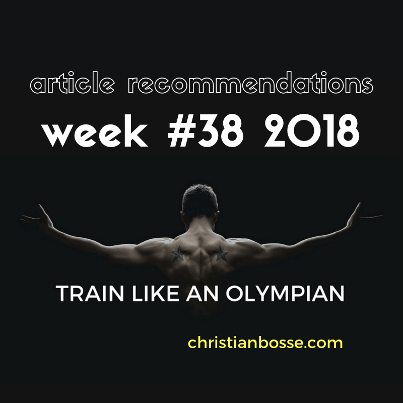 Article recommendations week #38 2018