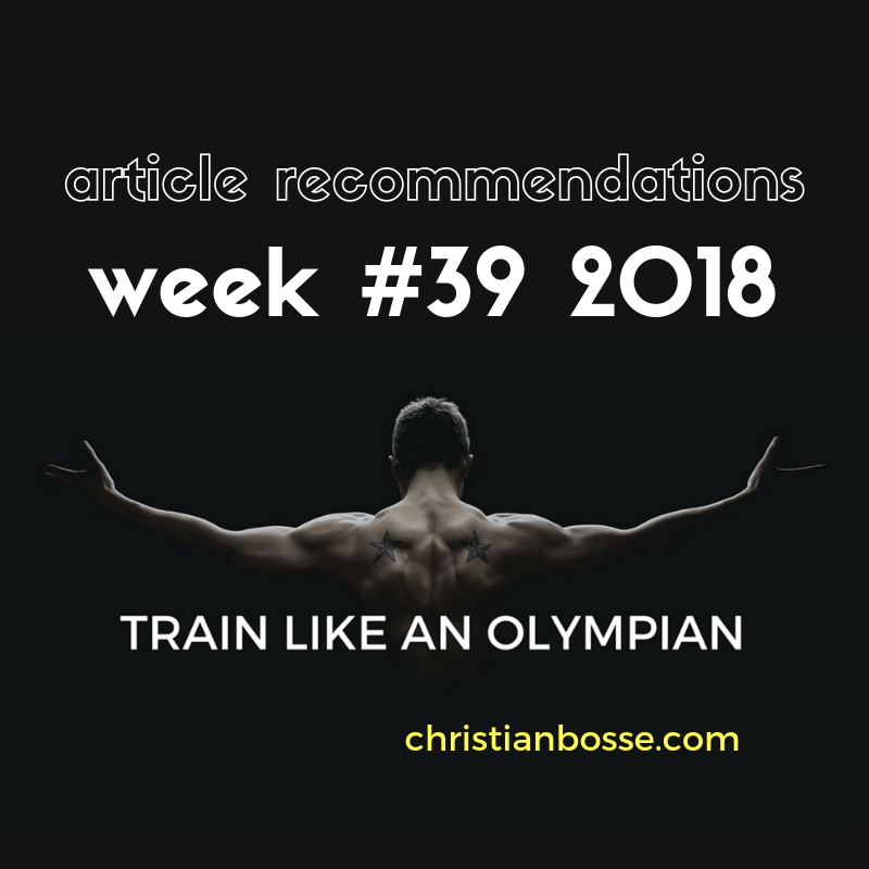 Article recommendations week #39 2018