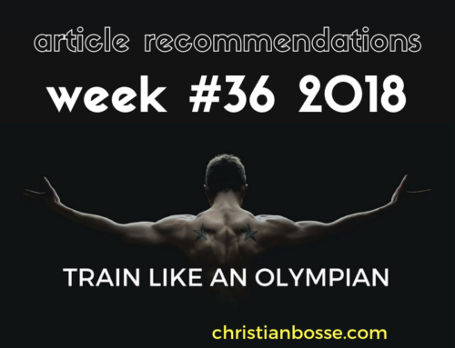 Article recommendations week #36 2018