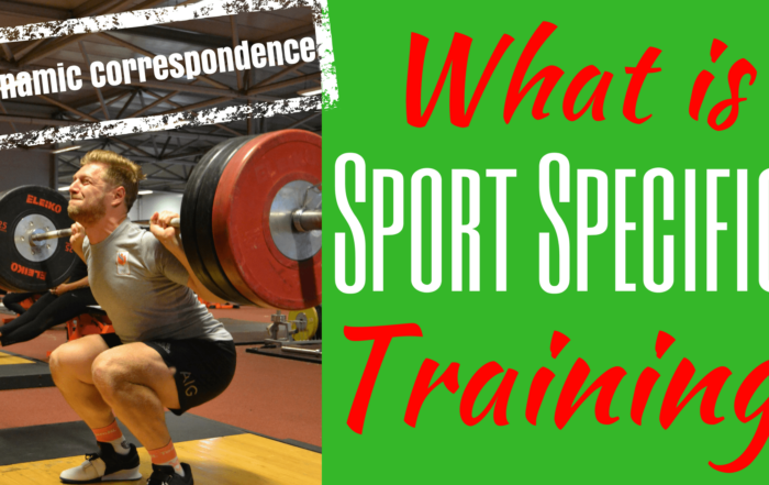 sport specific training dynamic correspondence