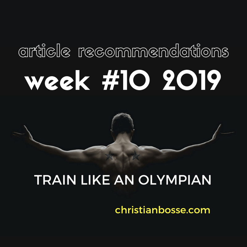 the best training articles of week 10 2019