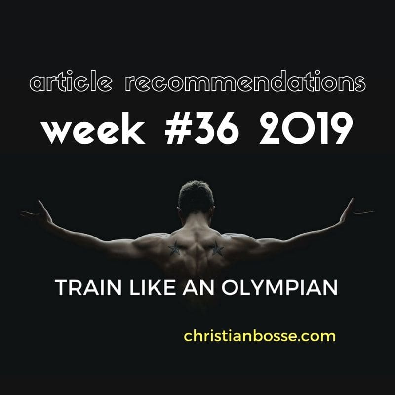 best fitness and strength training articles of week 36 2019