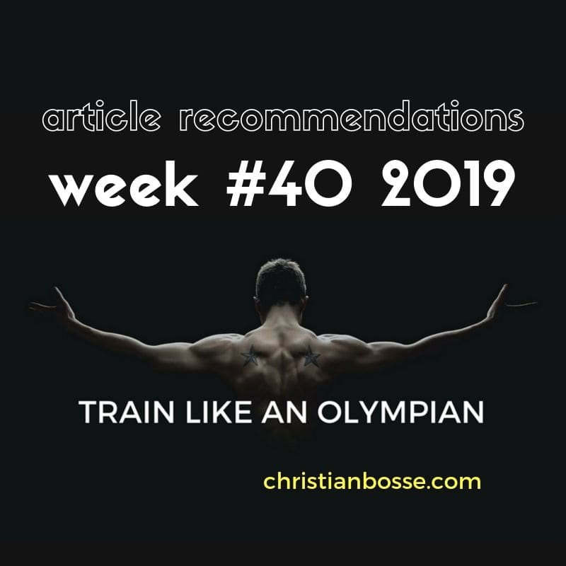 best fitness and strength training articles of week 40 2019