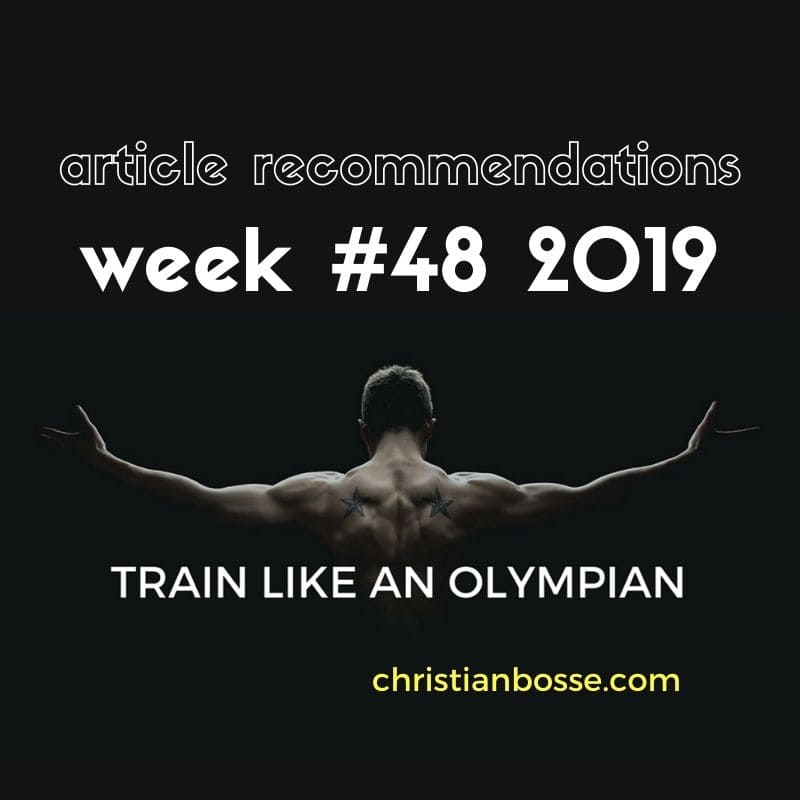 best fitness and strength training articles of week 48 2019